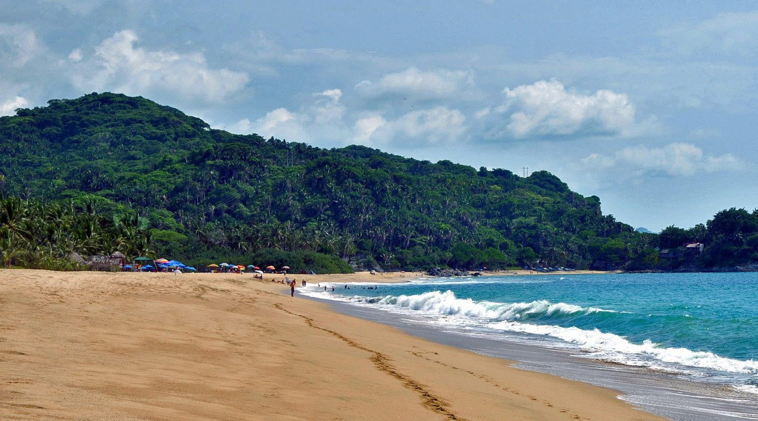 San Pancho's beach and mountains