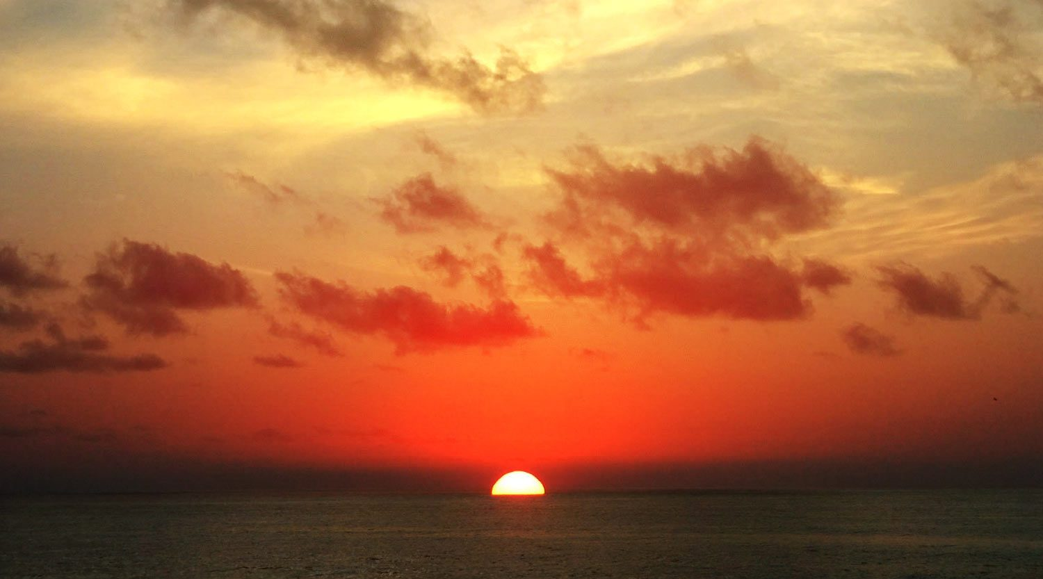 Romantic sunset in San Pancho